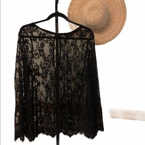 Michel studio Collection dramatic lace top